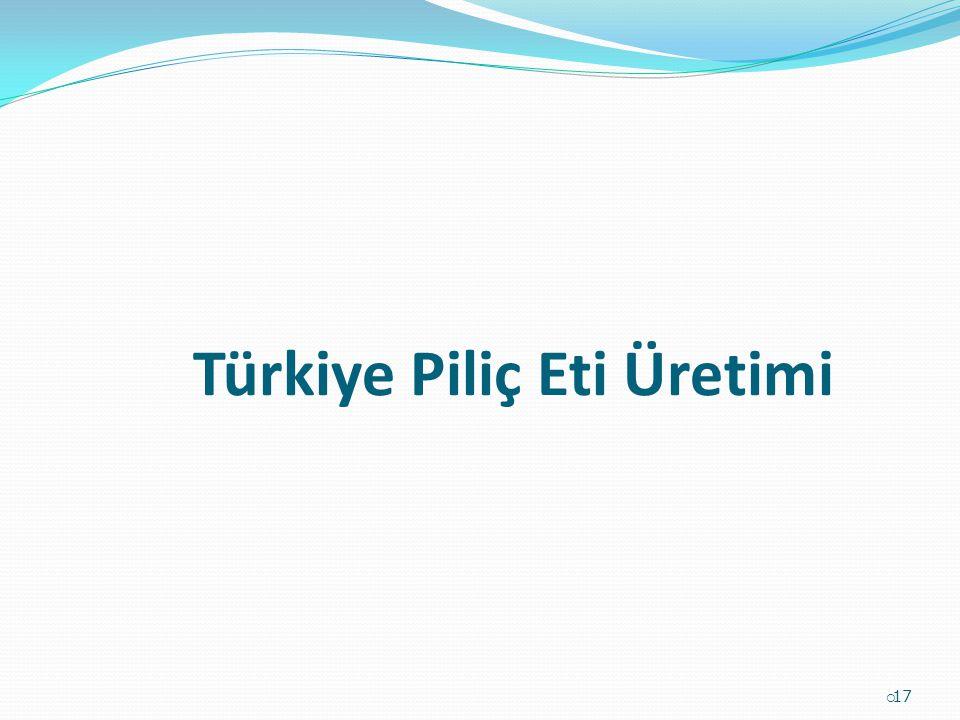 Türkiye Piliç Eti Üretimi