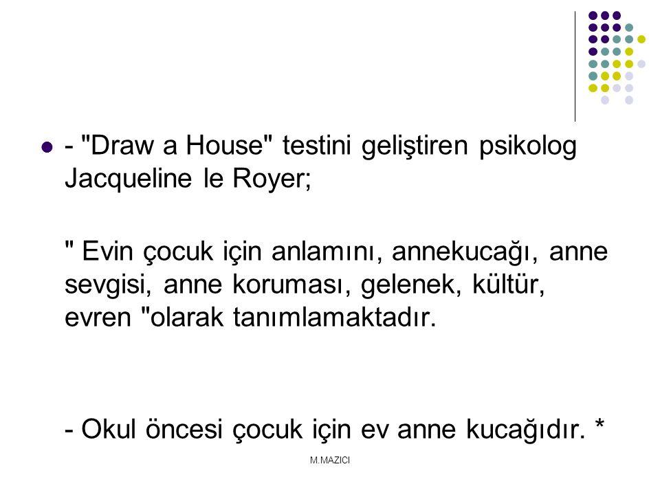 - Draw a House testini geliştiren psikolog Jacqueline le Royer;