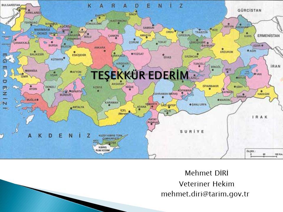 TEŞEKKÜR EDERİM Mehmet DİRİ Veteriner Hekim mehmet.diri@tarim.gov.tr