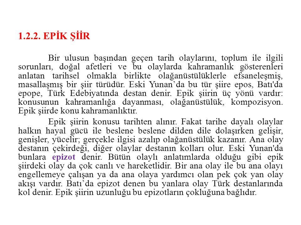1.2.2. EPİK ŞİİR