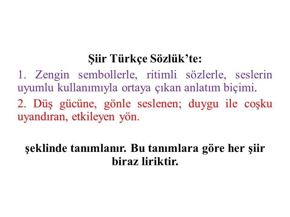Şiir Türkçe Sözlük'te: 1