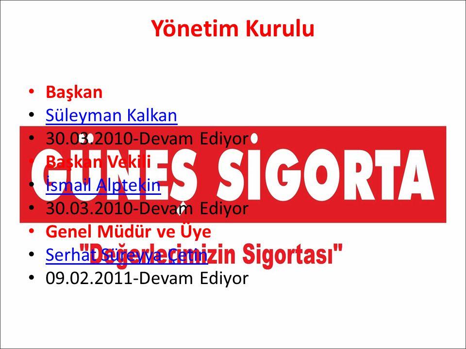 Yönetim Kurulu Başkan Süleyman Kalkan 30.03.2010-Devam Ediyor