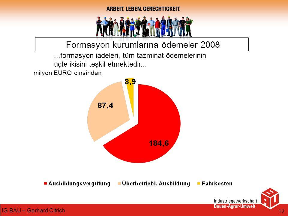 Formasyon kurumlarına ödemeler 2008