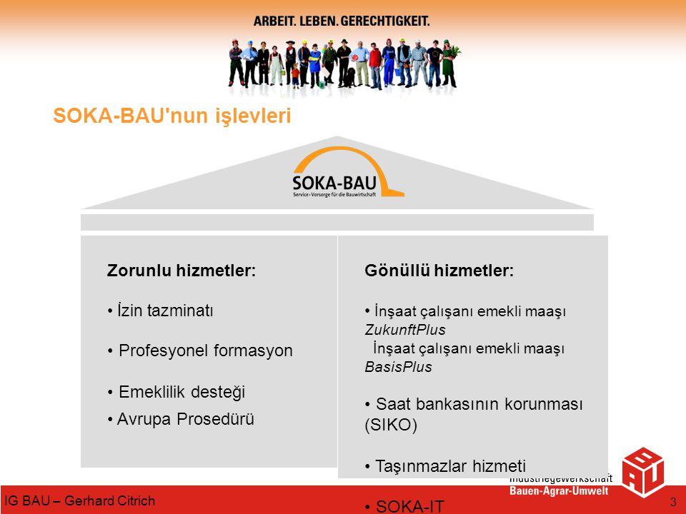SOKA-BAU nun işlevleri