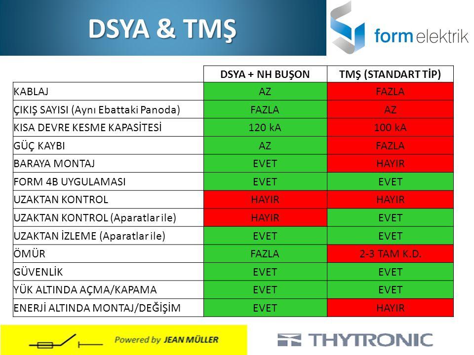 DSYA & TMŞ DSYA + NH BUŞON TMŞ (STANDART TİP) KABLAJ AZ FAZLA