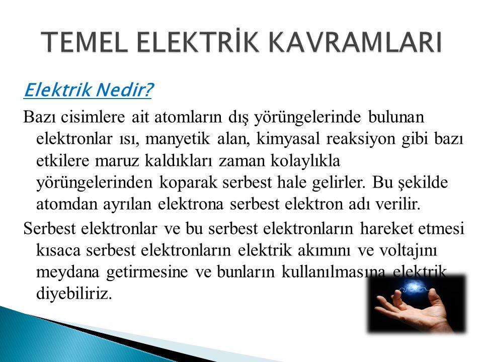 TEMEL ELEKTRİK KAVRAMLARI