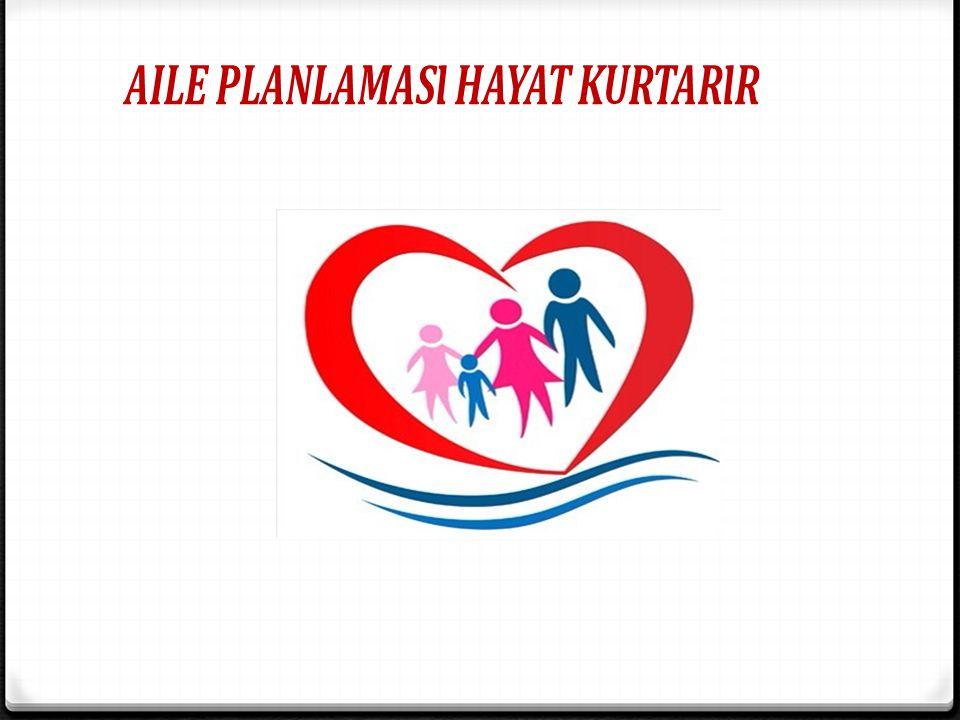 Aile planlaması hayat kurtarır