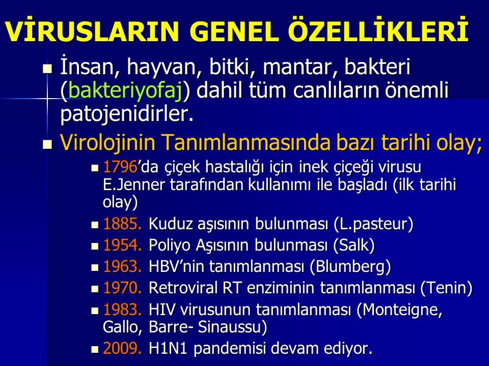 VİRUSLARIN GENEL ÖZELLİKLERİ