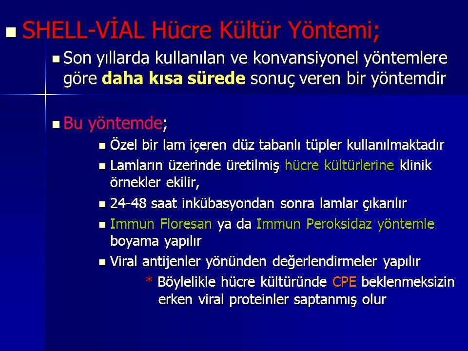 SHELL-VİAL Hücre Kültür Yöntemi;