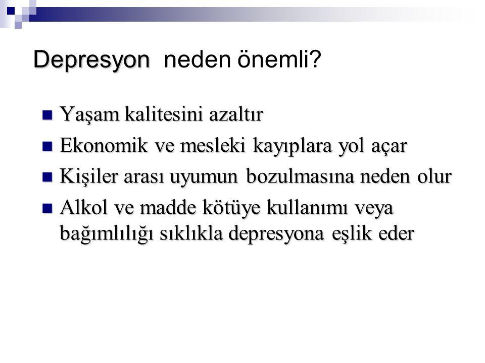 Depresyon neden önemli