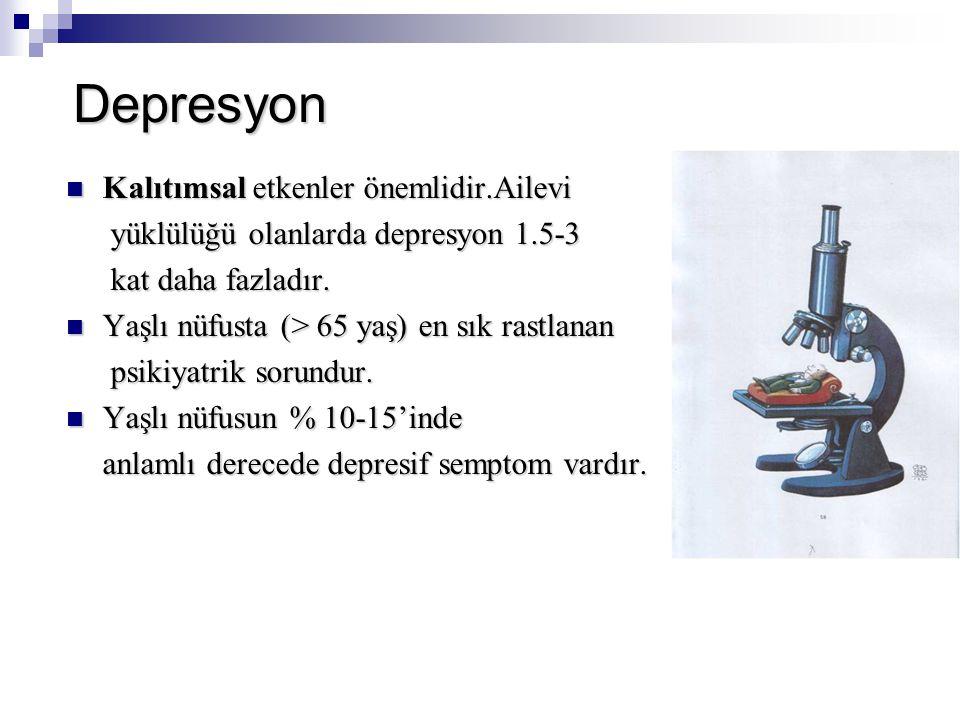 Depresyon Kalıtımsal etkenler önemlidir.Ailevi
