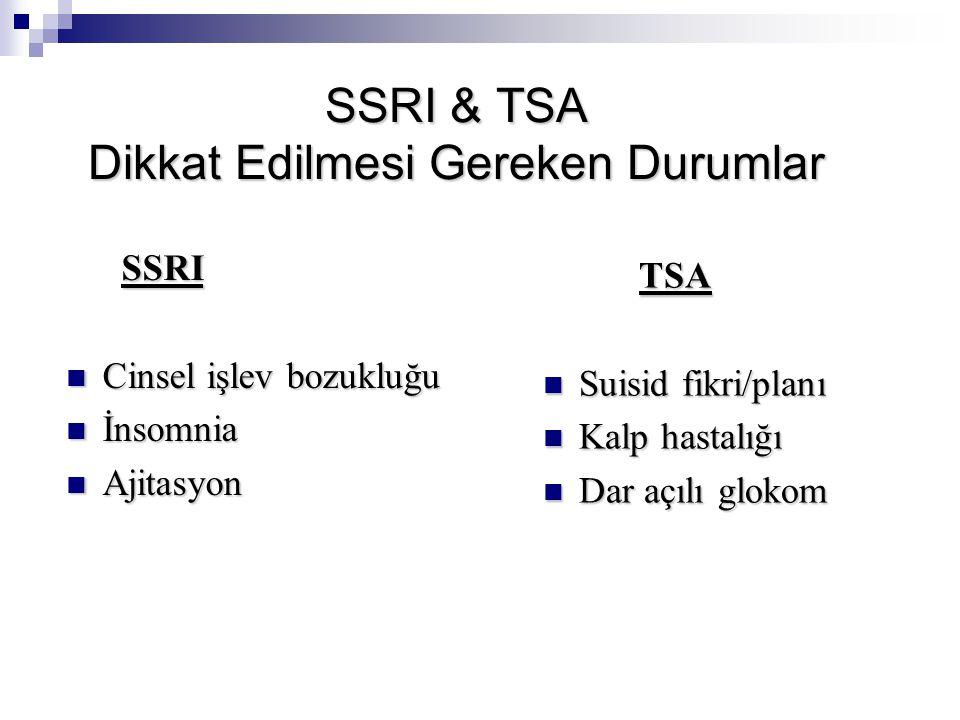 SSRI & TSA Dikkat Edilmesi Gereken Durumlar