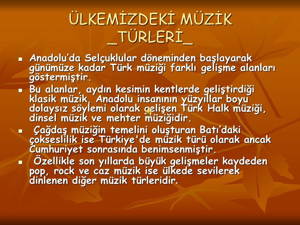 ÜLKEMİZDEKİ MÜZİK _TÜRLERİ_