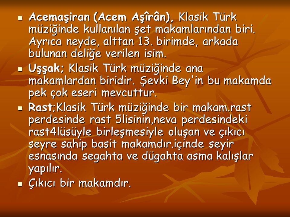 Acemaşiran (Acem Aşîrân), Klasik Türk müziğinde kullanılan şet makamlarından biri. Ayrıca neyde, alttan 13. birimde, arkada bulunan deliğe verilen isim.