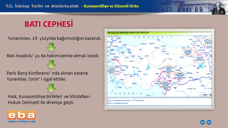 BATI CEPHESİ T.C. İnkılap Tarihi ve Atatürkçülük