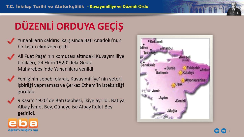 DÜZENLİ ORDUYA GEÇİŞ T.C. İnkılap Tarihi ve Atatürkçülük