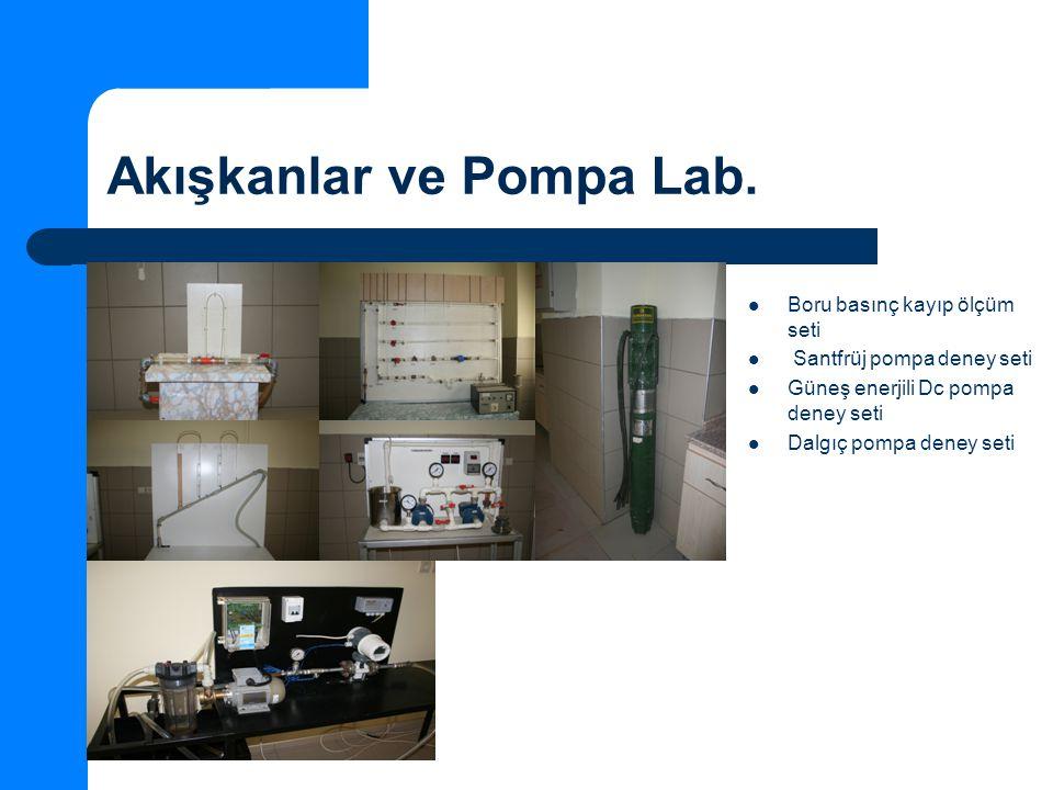 Akışkanlar ve Pompa Lab.