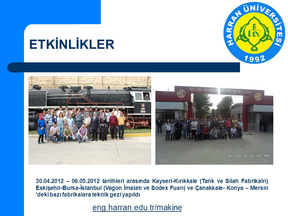 ETKİNLİKLER eng.harran.edu.tr/makine