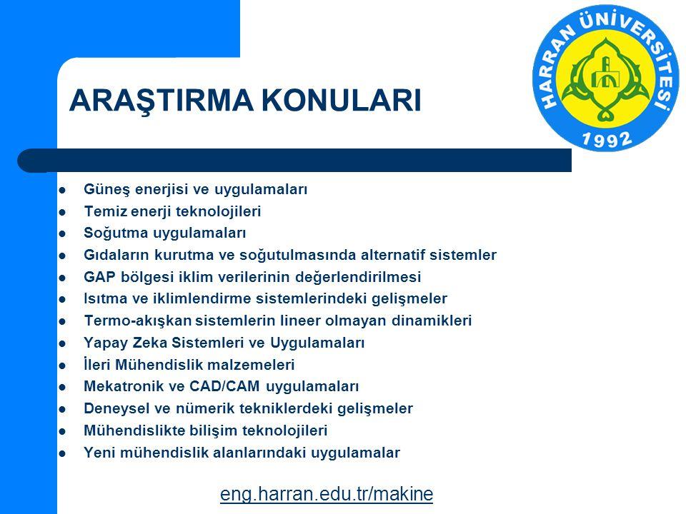 ARAŞTIRMA KONULARI eng.harran.edu.tr/makine