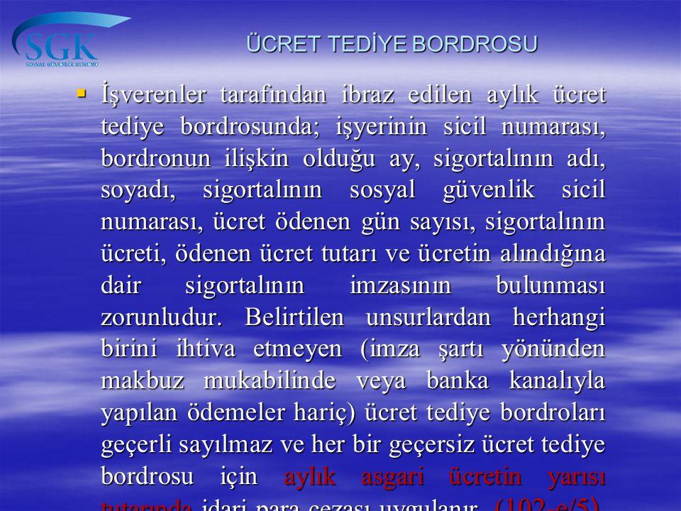 ÜCRET TEDİYE BORDROSU