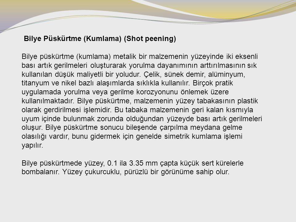 Bilye Püskürtme (Kumlama) (Shot peening)