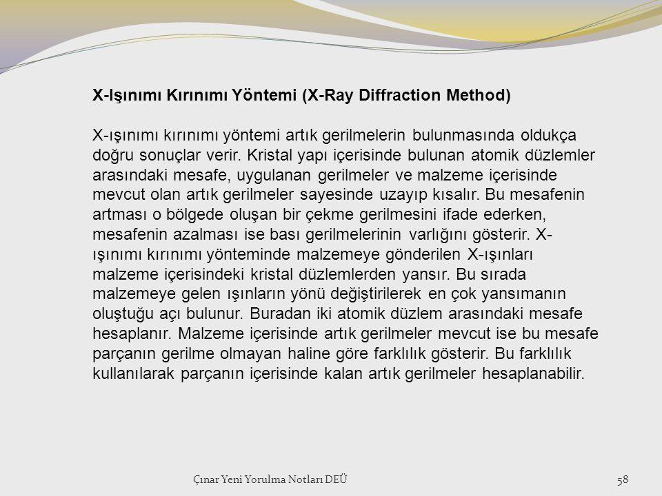 X-Işınımı Kırınımı Yöntemi (X-Ray Diffraction Method)