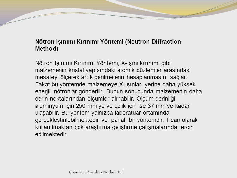 Nötron Işınımı Kırınımı Yöntemi (Neutron Diffraction Method)