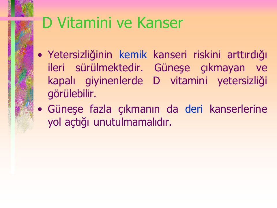 D Vitamini ve Kanser