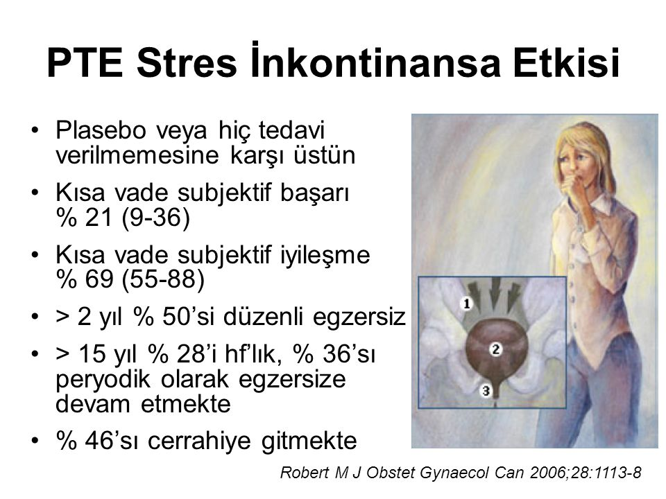 PTE Stres İnkontinansa Etkisi