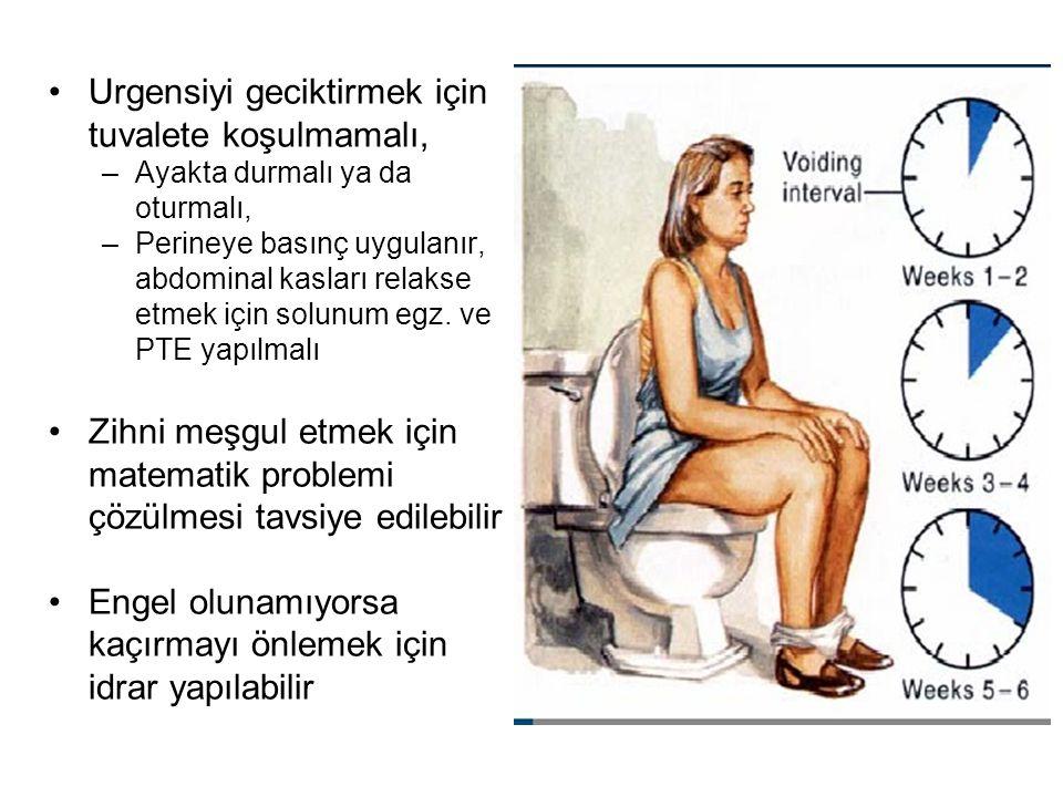 Urgensiyi geciktirmek için tuvalete koşulmamalı,