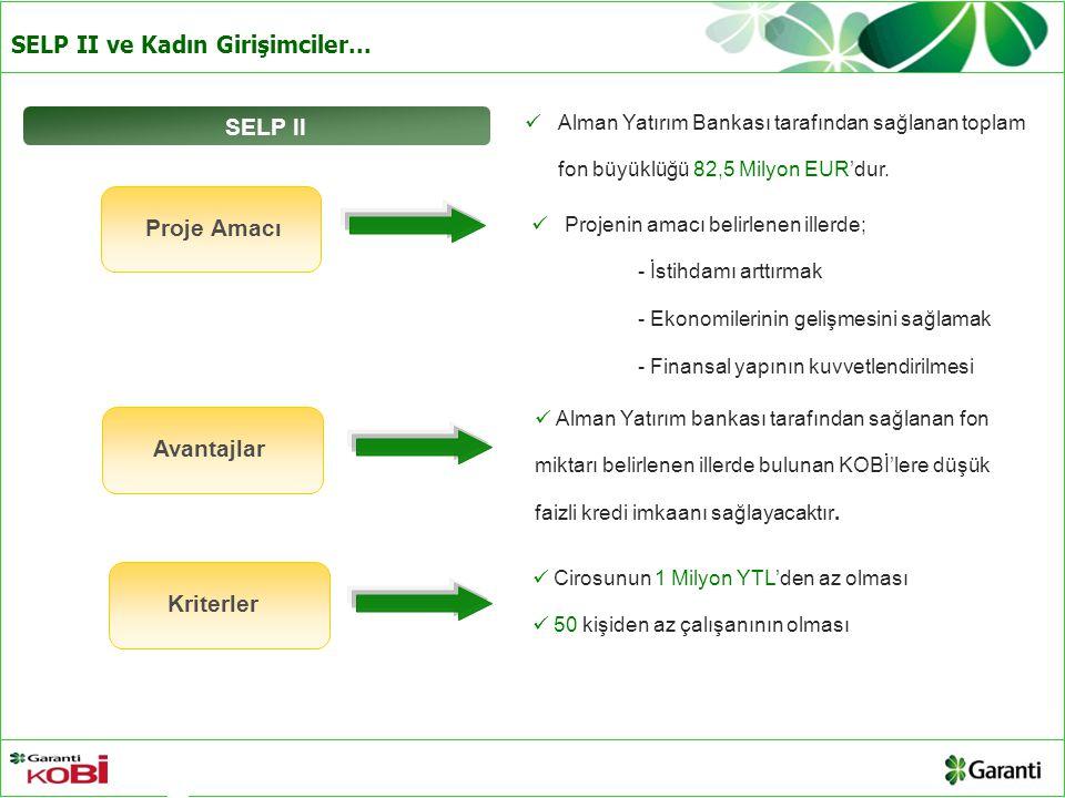 SELP II Proje Amacı Avantajlar Avantaj Kriterler Kriterler