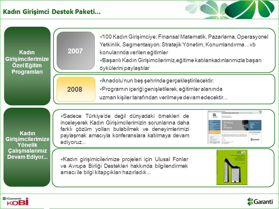 2007 2008 Kadın Girişimci Destek Paketi...