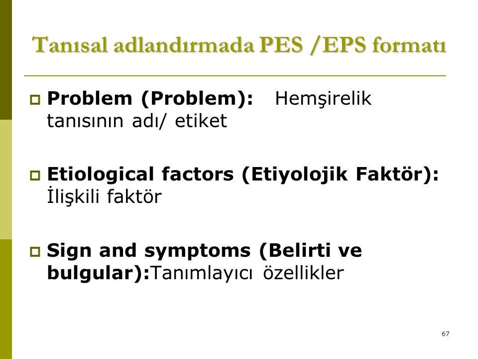 Tanısal adlandırmada PES /EPS formatı
