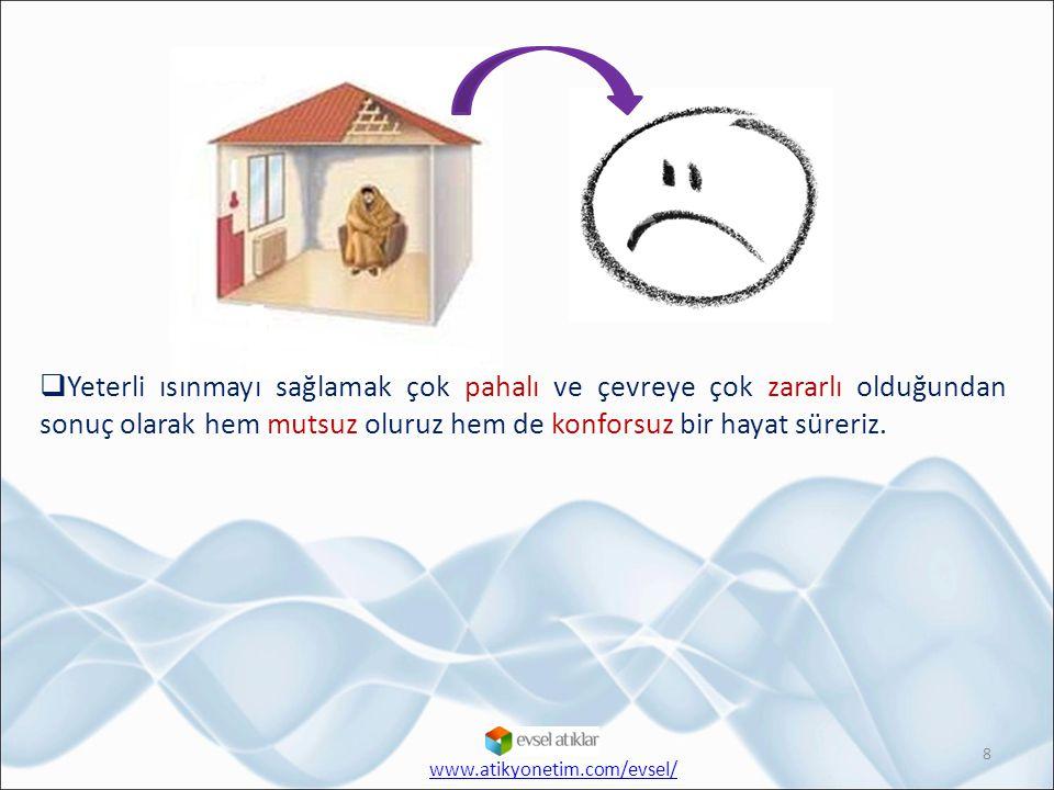Yeterli ısınmayı sağlamak çok pahalı ve çevreye çok zararlı olduğundan sonuç olarak hem mutsuz oluruz hem de konforsuz bir hayat süreriz.