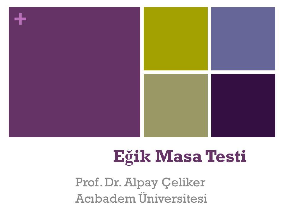Prof. Dr. Alpay Çeliker Acıbadem Üniversitesi