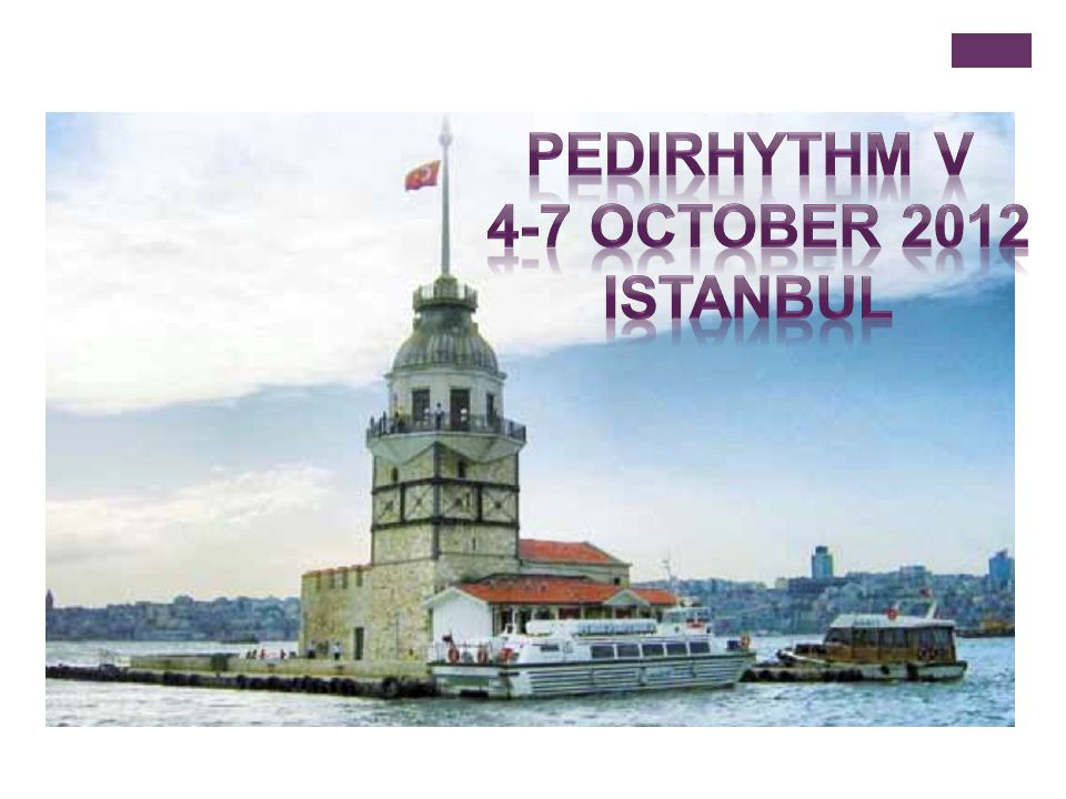 pedirhythm V 4-7 October 2012 Istanbul Save the date