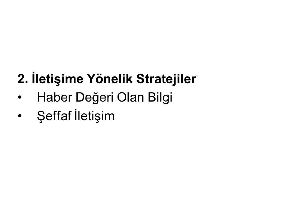 2. İletişime Yönelik Stratejiler
