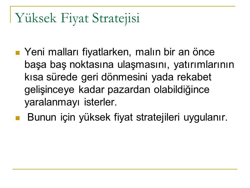 Yüksek Fiyat Stratejisi