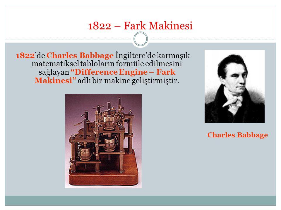 1822 – Fark Makinesi