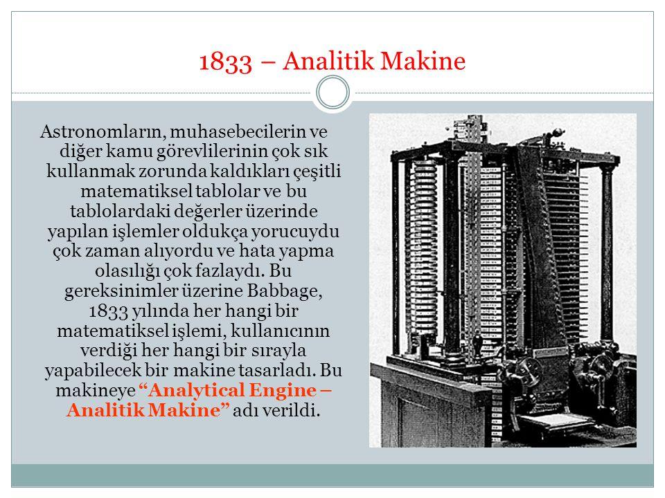 1833 – Analitik Makine