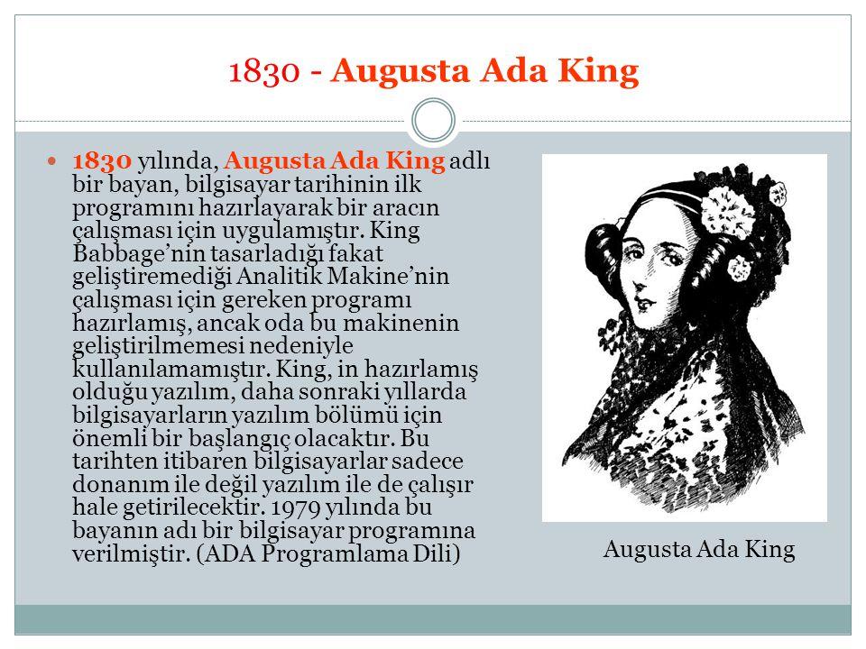 1830 - Augusta Ada King