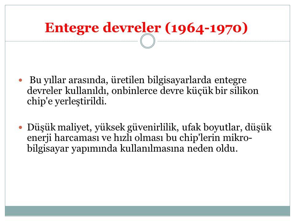 Entegre devreler (1964-1970)