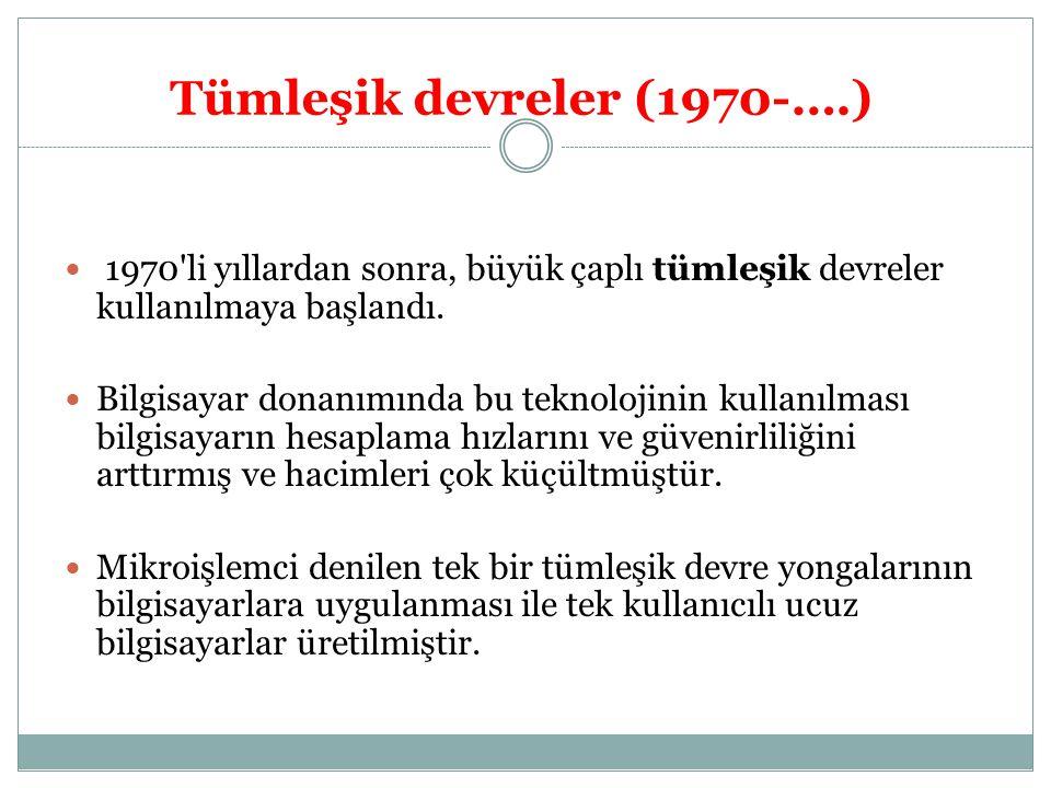 Tümleşik devreler (1970-….)