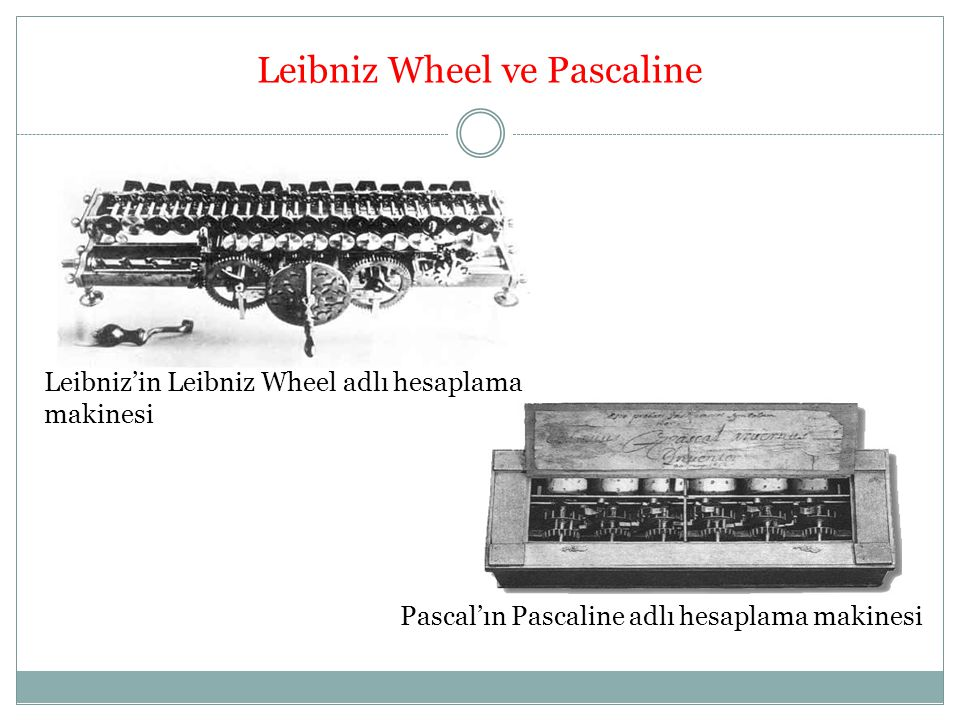 Leibniz Wheel ve Pascaline
