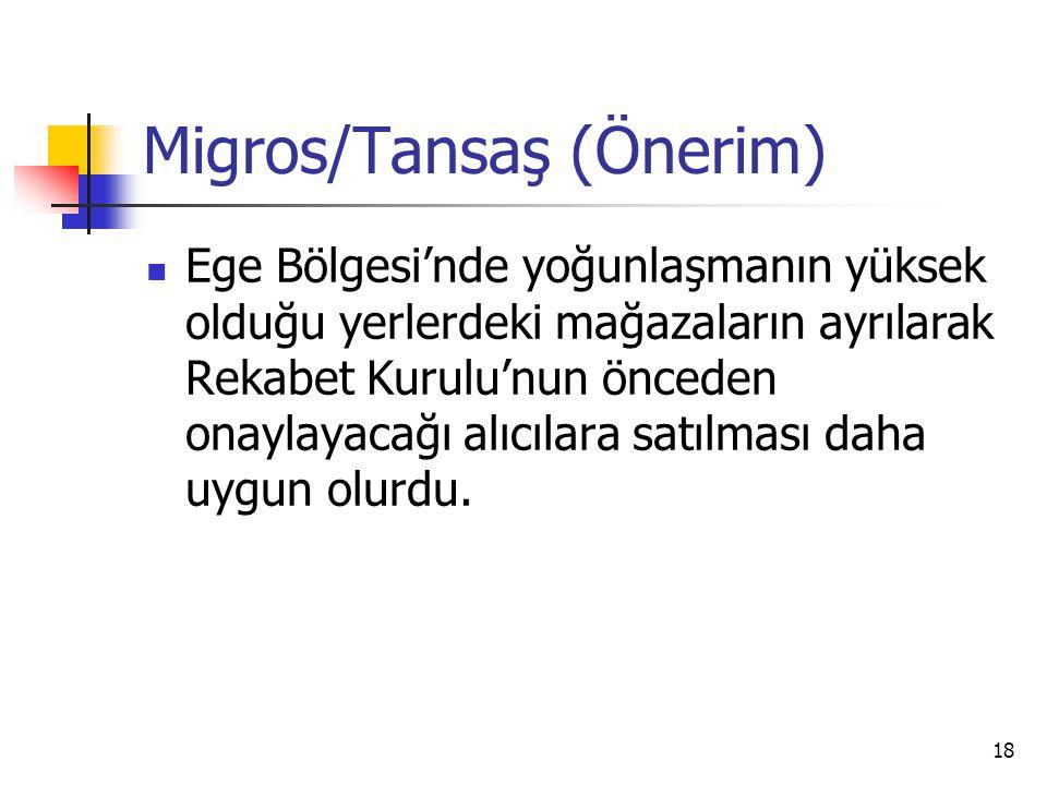 Migros/Tansaş (Önerim)