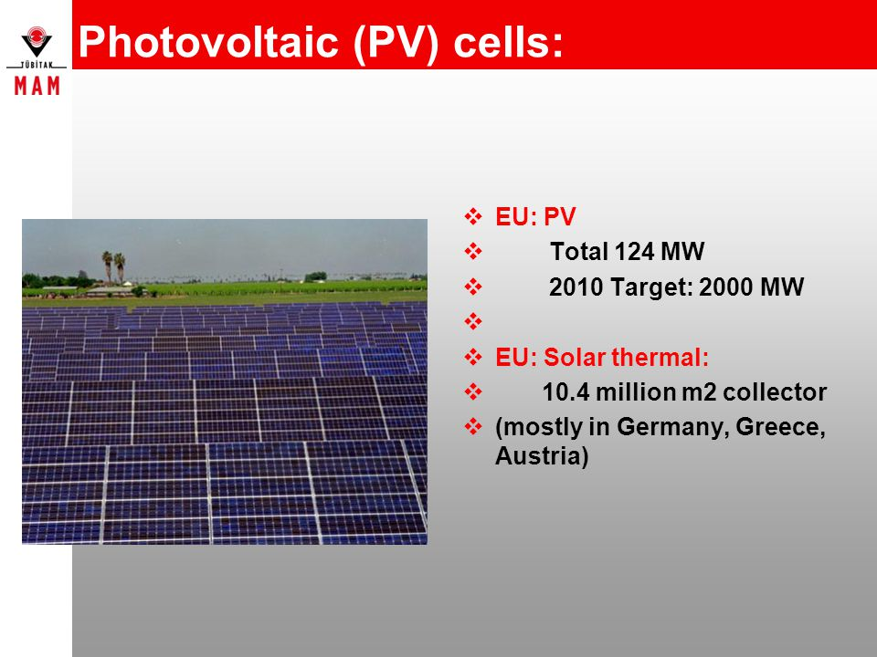 Photovoltaic (PV) cells: