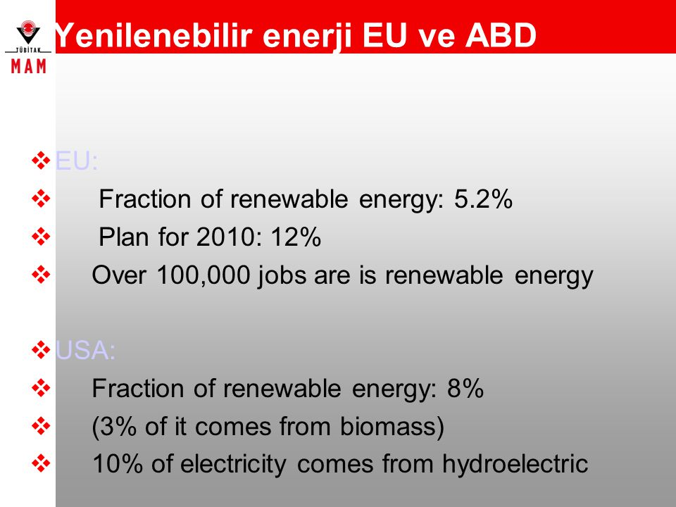 Yenilenebilir enerji EU ve ABD