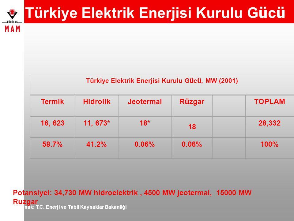 Türkiye Elektrik Enerjisi Kurulu Gücü