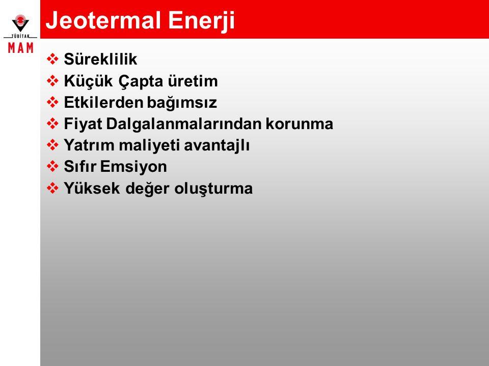 Jeotermal Enerji Süreklilik Küçük Çapta üretim Etkilerden bağımsız