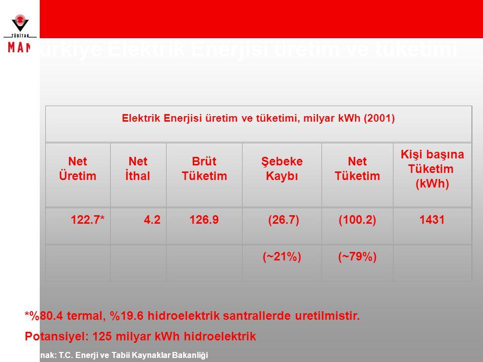 Türkiye Elektrik Enerjisi üretim ve tüketimi